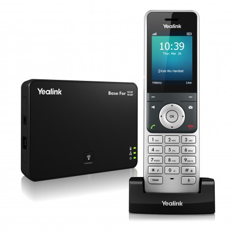 تلفن بیسیم Dect Phone Yealink W56P handset and base